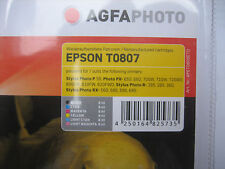 AGFA NEUF emballage d'origine photo t0807 Multipack for Epson stylus photo rx 560 585 595 865