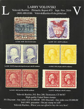 Larry Volovski,US Stamps Catalog Philatelic Report # 35,Prices 2016,New,81 pages