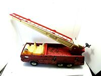"""1970'S Vintage Tonka Toy Fire w/ Truck Extension Ladder Pressed Steel 24"""" Long"""