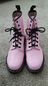 Dr. Martens Women's 1460 Eye Leather Boots PINK Size 11 $149
