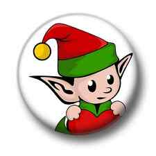 Elf 1 Inch / 25mm Pin Button Badge Father Christmas Santa Claus Elves Festive