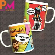 Sholay Bollywood Mug Cup Birthday Gift Idea Novelty Present Christmas Diwali Eid