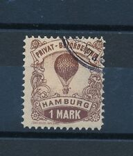 07489) Ballonpost Hamburg 2.6.1887 Local Post 1Mark, used