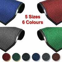 NON SLIP HEAVY DUTY RUBBER BARRIER MAT LARGE & SMALL RUGS BACK DOOR HALL KITCHEN