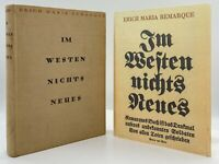 All Quiet on the Western Front - TRUE FIRST EDITION (German) - REMARQUE - 1929