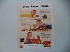advertising Pubblicità 1983 LEGO DUPLO