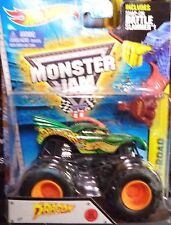 2015 Hot Wheels Monster Jam Dragon NEW MODEL With Battle Slammer