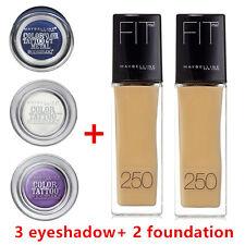 MAYBELLINE 3XColor Tattoo Cream Eye Shadow + 2XFIT ME FOUNDATION 135 Creamy Natl