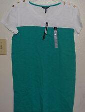 BNWT NICOLE MILLER knee length dress size M # EMERALD COAST/WHITE @ $9.99