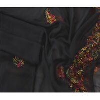 Tcw  Vintage Dupatta Long Stole Blend Georgette Hand Beaded Chikankari Veil