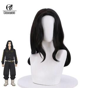 Tokyo Revengers Keisuke Baji Cosplay Wig Black Long Womens Mens Halloween Wigs