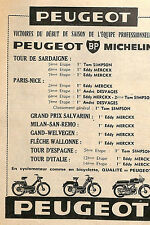 PEUGEOT BP MICHELIN PUBLICITE 1967