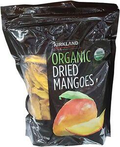 KIRKLAND SIGNATURE ORGANIC DRIED MANGOES, 2.5 LBS