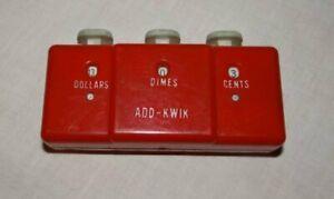 Vintage Plastic Add Kwik Pocket Calculator 1950s