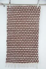 "Handmade Berber Moroccan Rug Carpet - Lattice Style - Shades Brown - 5'3"" x 2'7"""