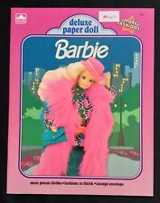 BARBIE Deluxe Paper Doll Book, Whitman 1991, Uncut, w/ 9 Pages of Clothes