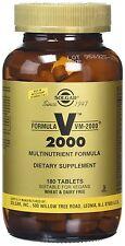 Solgar Formula VM-2000 Tablets (Multi-Nutrient System With Herbs) - 180 t... NEW