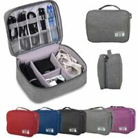 Electronics Accessories Travel Organizer Storage Hand Bag Cable USB Drive Case