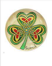 Irish Shamrock Fridge Magnet with Ancient Celtic Knot Design ~ Ireland