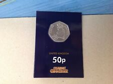 2018 Peter Rabbit 50p coin sealed in change checker card,