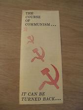 "VTG ca 1961 COLD WAR Era Brochure~""The COURSE of COMMUNISM""~Far East BC~Ephemera"