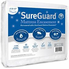 Twin XL 9-12 in. Deep SureGuard Mattress Encasement - 100% Waterproof Bed Bug...