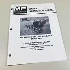 MASSEY FERGUSON 540 550 750 760 850 860 COMBINES SERVICE REPAIR SHOP MANUAL BOOK