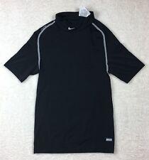 Nike Team Pro Seamless Short Sleeve Black Shirt Youth Size L Dri-Fit (B140)