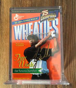 Mini Wheaties Box - Tiger Woods, 75 Years of Champions, 24K Gold Signature