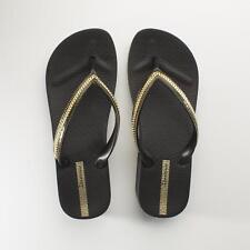 3bc42d22916f6 Ipanema Mesh Wedge Womens Ladies Summer Beach Toe Post Sandals Flip Flops  Black 38