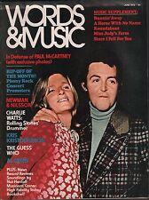 Words & Music Magazine June 1972 Paul McCartney EX 120315DBE
