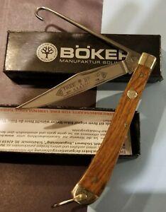 Boker Tree Brand Classic Bird Hunter W/Hook Pocket Knife In Box soligen