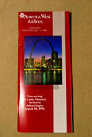 America West Airlines Timetable - July 1, 1991