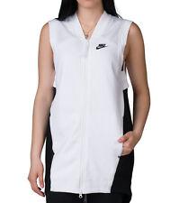 Nike Wmns Tech Fleece Mesh Vest Tunic Top Jacket 725846-100 Size S