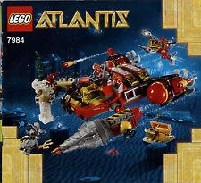 Lego Atlantis # 7984 Deep Sea Raider - Bauanleitung (keine Steine!)