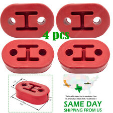 Universal 4pcs Exhaust Mount Repair Hanger Bracket Heavy Duty Rubber Replacement