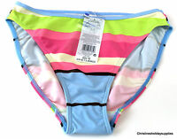 NEW! MULTI STRIPE HIGH LEG TUMMY CONTROL BIKINI PANT / BOTTOMS # SIZE 10/12/14