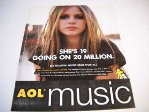 AVRIL LAVIGNE She's 19 Going On 20 Million (fans that is) 2004 Promo Poster Ad