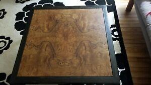Mid century modern coffee table vintage Stow Davis burl wood
