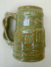 Studio Art Pottery Green Slipware Mug Backstamp Seal Island Selby London Bridge