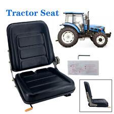 Universal Forklift Seat Slidable Black Tractor Seat Garden Lawn Mower Seat Black