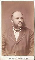 Moriz Müller CDV photo Herrenportrait - Wien um 1880