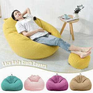 Bean Bag Couch Chair Sofa Cover Indoor Outdoor Home Game Lazy Lounger Adult Kids