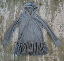 GAP Kids Girls Long Sleeve Hooded Velour Gray Tunic Top Dress Size XL 12