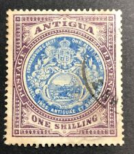 Stamp Vault - Antigua #37 - WMK 3 - 1sh Used -CV $80