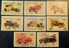Bhutan Stamps SC 432-39 Complete Set cars MNH