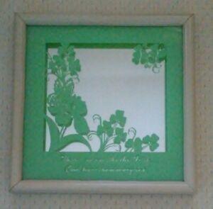 "Beautiful Irish Blessing Mirror approx 10"" Square!*."