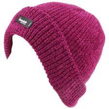 Bonnets rose en acrylique taille unique pour femme