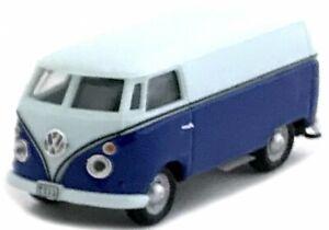 Cararama, VW T1 Kastenwagen blau weis, Maßstab 1:72, OVP und Neu in Vitrine.