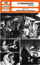 FICHE CINEMA : LA MANDRAGORE - Knef,Stroheim,Rabenalt 1952 Alraune/Unnatural